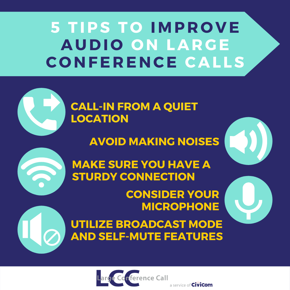 INFOGRAPHIC - 5 Tips to Improve Audio on Large Conference Calls