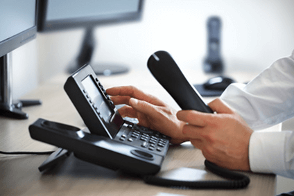hosting a large conference call using conferencing phone