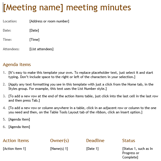 How To Write Meeting Minutes Effectively Includes 5 Free Templates