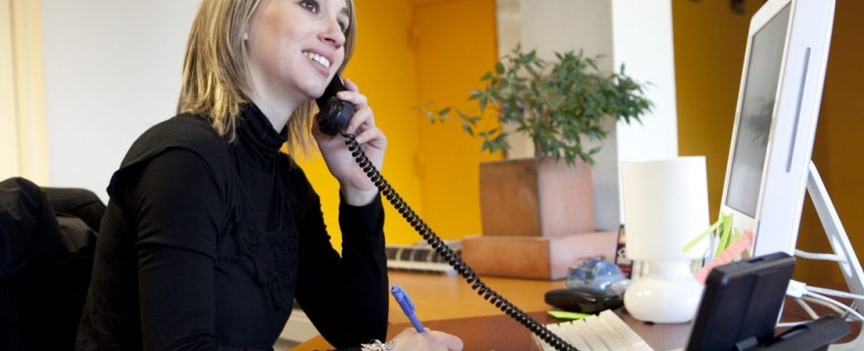 woman joining a conference call